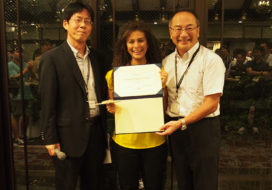 Claribel Dominguez obtains the iWOE26 poster prize