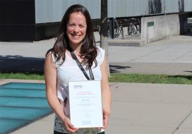 Marta Gibert receives the Swiss Physical Society (SPS) prize