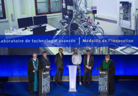 The Laboratory of Advanced Technology receives the UNIGE innovation medal