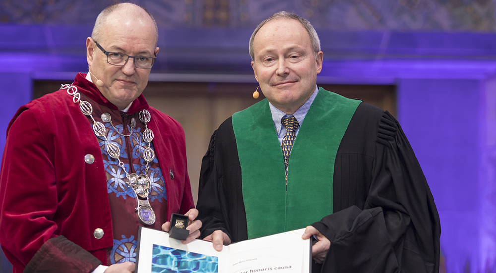 Professor Jean-Marc awarded an honorary doctorate