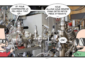 The ARPES/STM lab of UNIFR in ComicScience